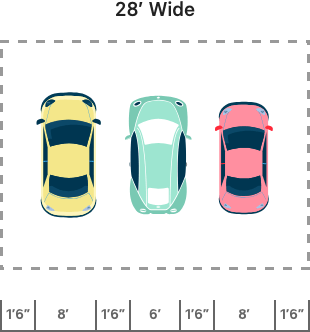 triple carports